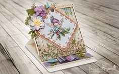 Card with Lili of the Valley Stamp & Spellbinders dies