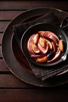 Saffron and Rose Water poached Pears