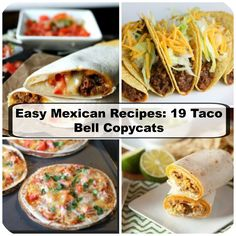 Everyone craves Taco Bell! With this list of 18 Taco Bell Copycat Recipes, you can save yourself a drive and make your own Tex-Mex at home. Taco Bell Recipes, Tostada Recipes, Mexican Food Recipes, Ethnic Recipes, Nacho Recipes, Apple Recipes, Dessert Recipes, Taco Bell Copycat, Gooseberry Recipes