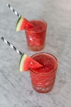 watermelon rose slushies