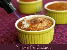 Pumpkin Pie Custards with Brulee Topping #vegan #glutenfree #soyfree #oilfree www.plantpoweredkitchen.com