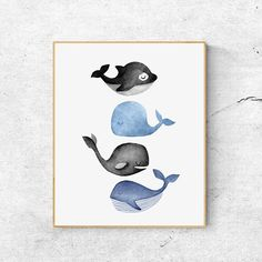 Whales print ocean art print watercolor whale artwork gray whale print watercolor whale painting nursery art baby animal art en baby sign language poster english printable sign with baby communication to print new mom parents gift speak illustration Art And Illustration, Watercolor Illustration, Whale Painting, Watercolor Whale, Ocean Artwork, Nursery Paintings, Nursery Artwork, Whale Art, Baby Art