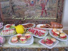 Platter of Ham Sandwiches by Crown Jewel by CrownJewelMiniatures