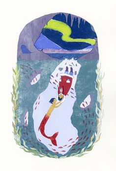Gender-reversed fairy tale posters. Here, the Little Merman by Yudi Chen