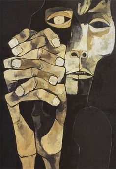 Oswaldo Guayasamín - Cabeza y Mano XV Modern Art Paintings, Hand Art, American Art, Painting & Drawing, Photo Art, Art Drawings, Contemporary Art, Abstract Art, Art Prints