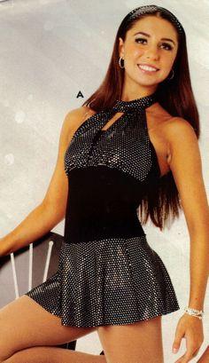 NWT Dance Costume Halter Hologram Foil Leotard w/ attached skirt Skate Baton  #WolffFording