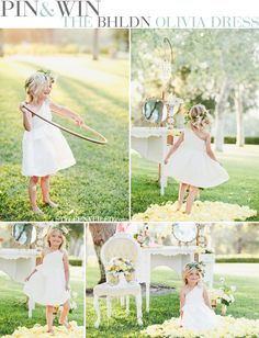 Pin to Win the Olivia flower girl dress by BHLDN / click on this image to learn how to enter this contest / via StyleUnveiled.com