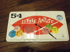Little Artist Water Color Tin 54 Non Toxic Water Colors Paint