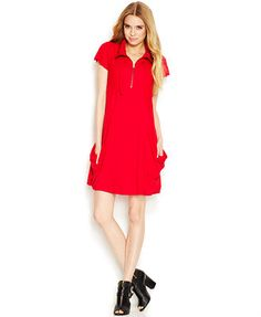 Kensie Solid Pocket Dress