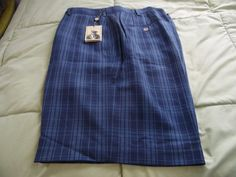 Donald Ross Men's Golf Shorts, Size 36, Blue Plaid, 100% Polyester,  NWT #DonaldRoss