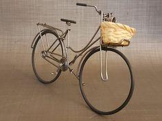 Miniature Dutch bicycle with basket Wicker / Dutch bike in Dutch Bicycle, Moto Car, Diy Camping, Wire Art, Artisanal, Wicker Baskets, Metal Art, Miniatures, Etsy