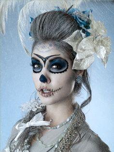 pretty skeleton makeup