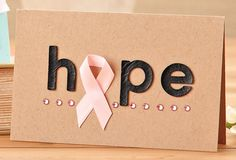 Breast Cancer encouragement card by @Ryann Paxson Salamon #cardmaking #breastcancerawareness