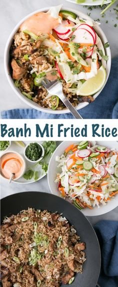 With a crunchy bright slaw and all the fixings. Rice Recipes, Pork Recipes, Asian Recipes, Dinner Recipes, Dinner Ideas, Risotto Recipes, Entree Recipes, Noodle Recipes, Sausage Recipes