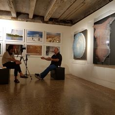 Filming at Palazzo Mora for the Personal Structures group exhibition hosted by the European Cultural Centre during the Venice Biennale 2017. #artecontemporanea #contemporaryartexhibition #anthonymoman #steelart #foundart #artandscience  #mixedmediasculpture #contemporarywallsculpture