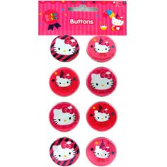 Hello Kitty Birthday Buttons  Pins 8ct *** Read more reviews of the product by visiting the link on the image.Note:It is affiliate link to Amazon.