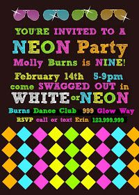 Bringing Up Burns: Molly's NINTH Neon/Glow in the Dark Dance Birthday Party