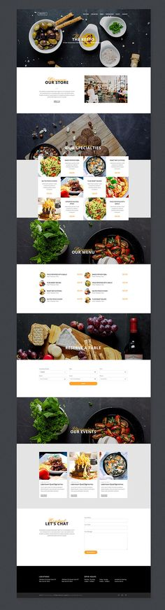 Resto – #free #Responsive #Bootstrap #Template A responsive one page website template with a modern and clean design, ideal for a culinary business. This bootstrap HTML template is very easy to work with and features simple navigation, reservation, events and contact sections.