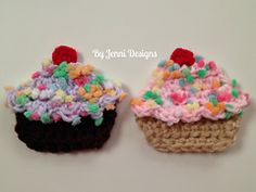 Ravelry: Cupcake Applique pattern by Jenni Catavu