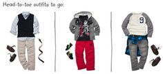 Osh Kosh B'gosh boys outfits for back to school