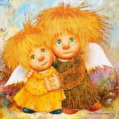 VK is the largest European social network with more than 100 million active users. Tim Burton, Sois Fort, Baby Witch, Kobold, Owl Photos, Polymer Clay Figures, Baby Fairy, Angel Art, Christmas Angels