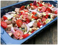 Pasta Salad, Cobb Salad, Danish Food, Lchf, Catering, Ethnic Recipes, Blog, Handmade, Crab Pasta Salad