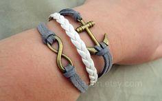 Unlimited bracelets  dark gray imitation leather by jewellrydesign, $7.99