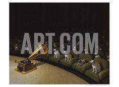 His Master's Voice Art Print by Michael Sowa at Art.com