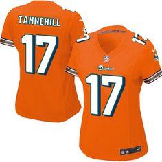 Women's Nike Miami Dolphins #17 Ryan Tannehill Elite Alternate Orange Jersey