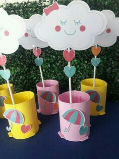 Собирались на пляж и др. Rainbow Birthday, Baby Birthday, Birthday Parties, Diy And Crafts, Crafts For Kids, Paper Crafts, Cloud Party, Baby Shawer, Unicorn Party