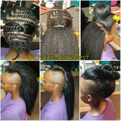 Knotless crochet braids with Kanekalon hair