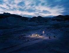 Thomas Wrede. Dari King Drive In. By using miniature models in a real landscape Wrede has create incredible images. An idea to play with perhaps.