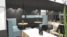"""Restaurant einrichten - Gemütliche Nischen mit dem Hochlehnensofa """"Talkline"""" sorgen für Wohlbefinden. Sofa, Conference, Modern, Upholstery, Coloring, Sketch, Restaurant, Shelves, Sculpture"""