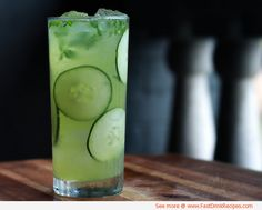 "Cucumber Mint Lemonade Drink #Recipe I made this recipe last summer and it was a success! Add gin for a ""mature"" vibe."