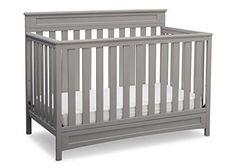 Delta Children Geneva 4-in-1 Convertible Crib Grey