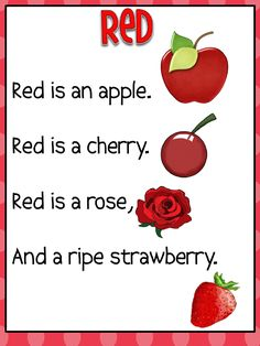 Color Word Poems.pdf | Pre k | Pinterest | Poems, November and Words