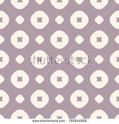 Vector geometric seamless pattern in retro pastel colors, pale purple and beige. Abstract texture with perforated circles and dots. Simple repeat background. Design for decoration, textile, wallpaper