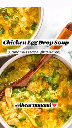 Chicken Soup Recipes, Easy Soup Recipes, Low Carb Recipes, Cooking Recipes, Healthy Recipes, Orzo Recipes, Crockpot Recipes, Leftover Chicken Soup, Brothy Soup Recipes
