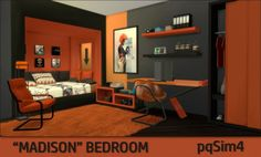 """PQSims4: """"Madison"""" Bedroom • Sims 4 Downloads"""