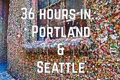 Want advice on what to do in Portland and Seattle for a weekend? Head here! Seattle Winter, Weekend In Portland, Portland Oregon, Visit Portland, Washington Things To Do, Seattle Washington, Washington State, Oregon Travel, Travel Usa