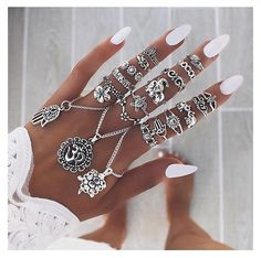 Nails Oval White