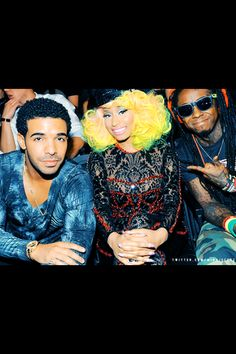 Drake, Nicki Minaj and Lil Wayne. My rap idol's YOUNG MONEY BABY