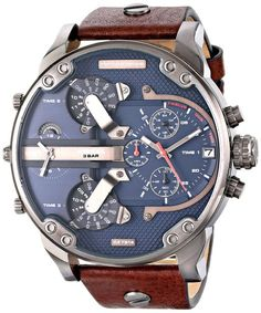 Diesel Men's DZ7314 The Daddies Series Analog Display Analog Quartz Brown Watch