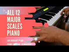 All 12 Major Scales Piano - YouTube E Major, Major Scale, Piano Scales, Print Music, Free Sheet Music, Music Theory, Tutorials, Chart, Youtube