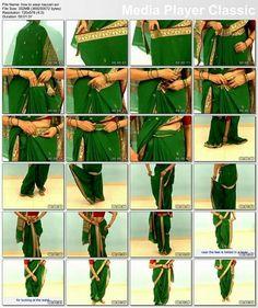 How to drape #Nauvari Maharashtrian #Saree, Specially wore on wedding rituals n auspicious occasions.