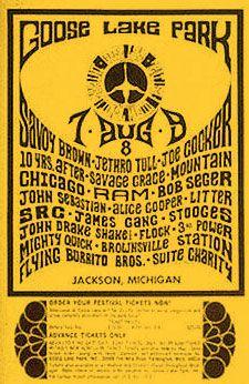 Goose Lake Rock Festival poster