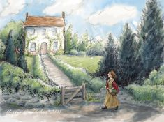 """""""Claudia Visits the Jolly Cottage"""" by Breezy Brookshire #breezytulipstudio"""