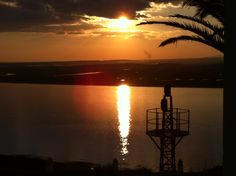 Vista de la frontera de Portugal desde el Parador nacional de Ayamonte