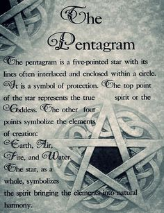 The pentagram is a symbol  of protection...