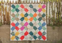 Carrie Bloomston Story Quilt XOXO Green Bee